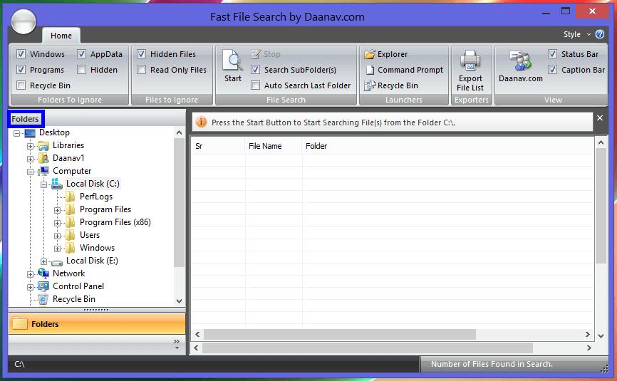 Fast File Search utility in Windows 8
