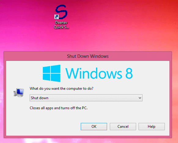 Free Windows 8 Shutdown Utility