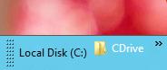 Pinned Folder on Windows 8 Taskbar