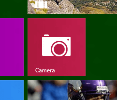Camera in Start Menu of Windows 8