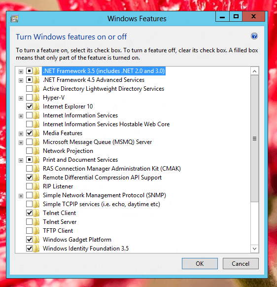 Install Additional Features of Windows 8