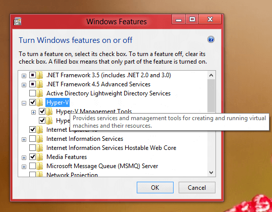 Virtual Computer Software in Windows 8