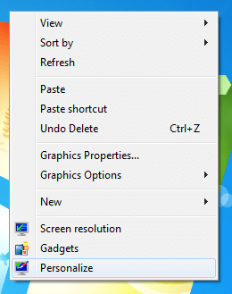 Launch Personalize Settings to Configure ScreenSaver