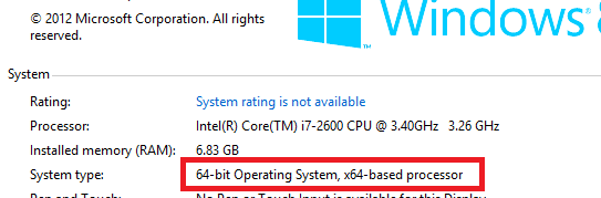 32 or 64 bit Windows 8
