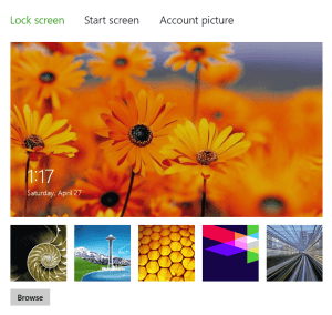 Change Lock Screen of Windows 8