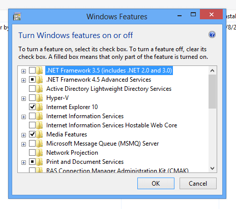 Configure Windows 8 Features