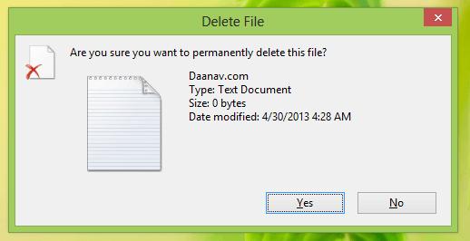 File Deletion in Windows 8