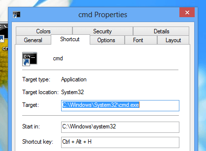 Keyboard Shortcut to Open Command Prompt on Windows 8