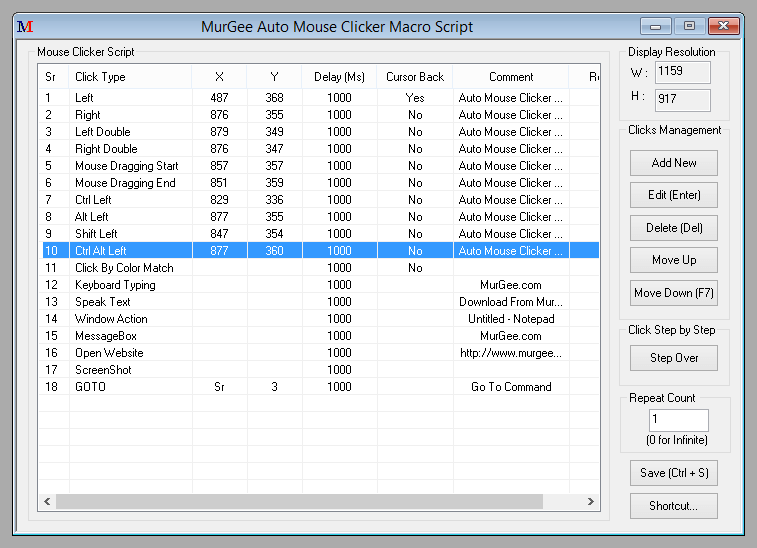 Mouse Macro Program for Windows