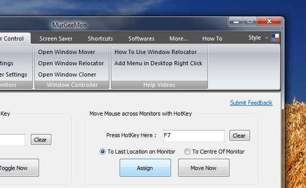 Keyboard Shortcut to Move Mouse Across Invisible Wall of Dual or Multiple Monitors