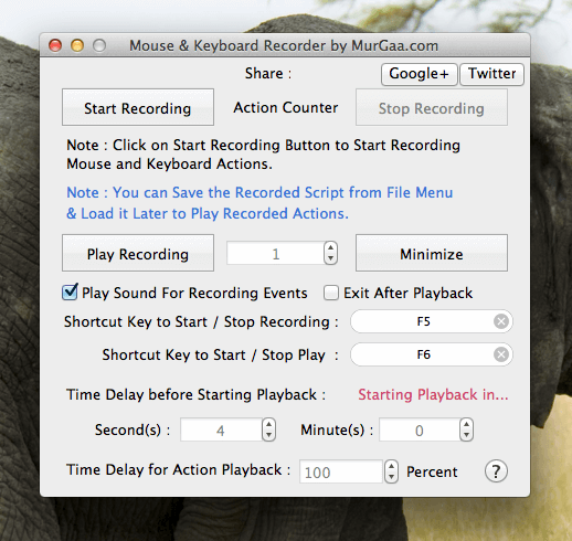 Macro Recorder for Mac Ready to Record Keystrokes