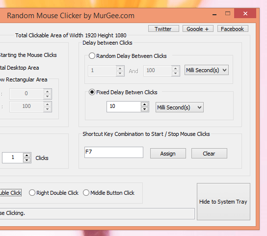 Double Click with Keyboard Shortcut