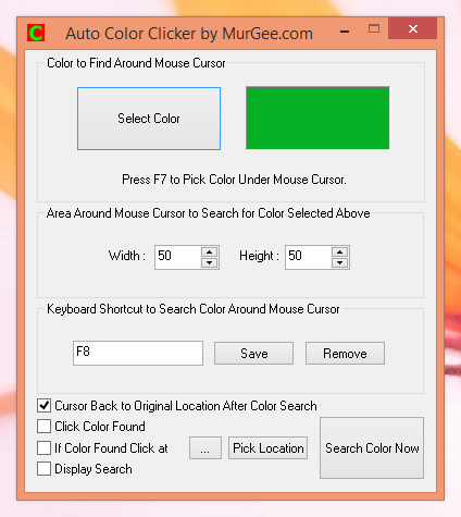 Fast Color Clicker to Find Color and do Mouse Click